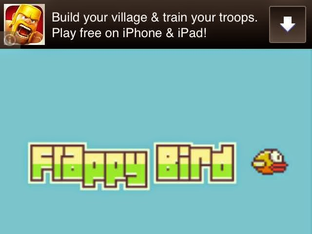 Iklan di game flappy bird