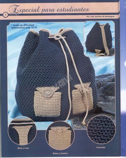Tejidos kang l propuestas para el curso de bolsos solo - Como hacer bolsos tejidos ...