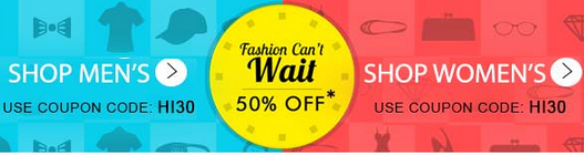 Myntra : Fashion Can't wait | 50% off ( Hottest Offer ) | Today Only : BuyToEarn