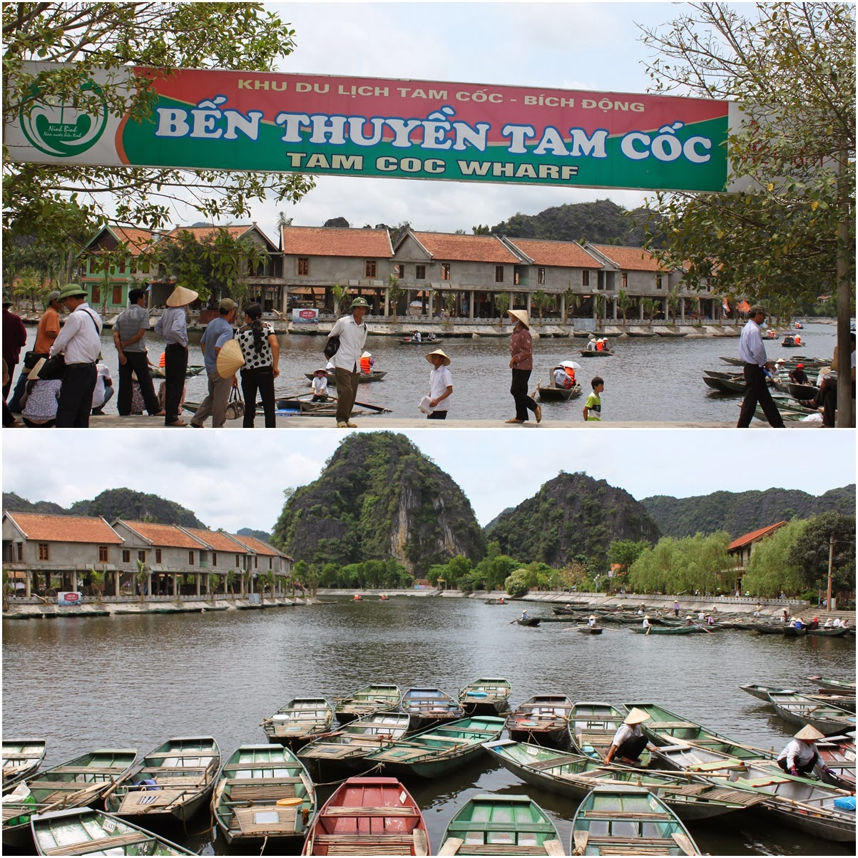 Arriving at Tam Coc Wharf near the city of Ninh Bình in northern Vietnam