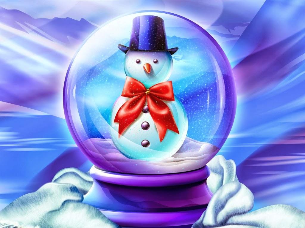Merry christmas feliz navidad bola de cristal con - Bola nieve navidad ...