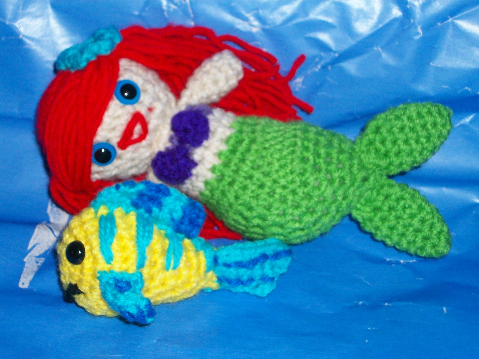 Free Crochet Amigurumi Mermaid Pattern : My crocheted world little mermaid and flounder free crochet