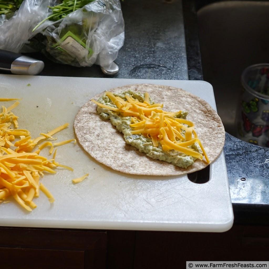 Creamy Avocado, Bell Pepper, Caramelized Onion and Hatch Chile Enchiladas | Farm Fresh Feasts