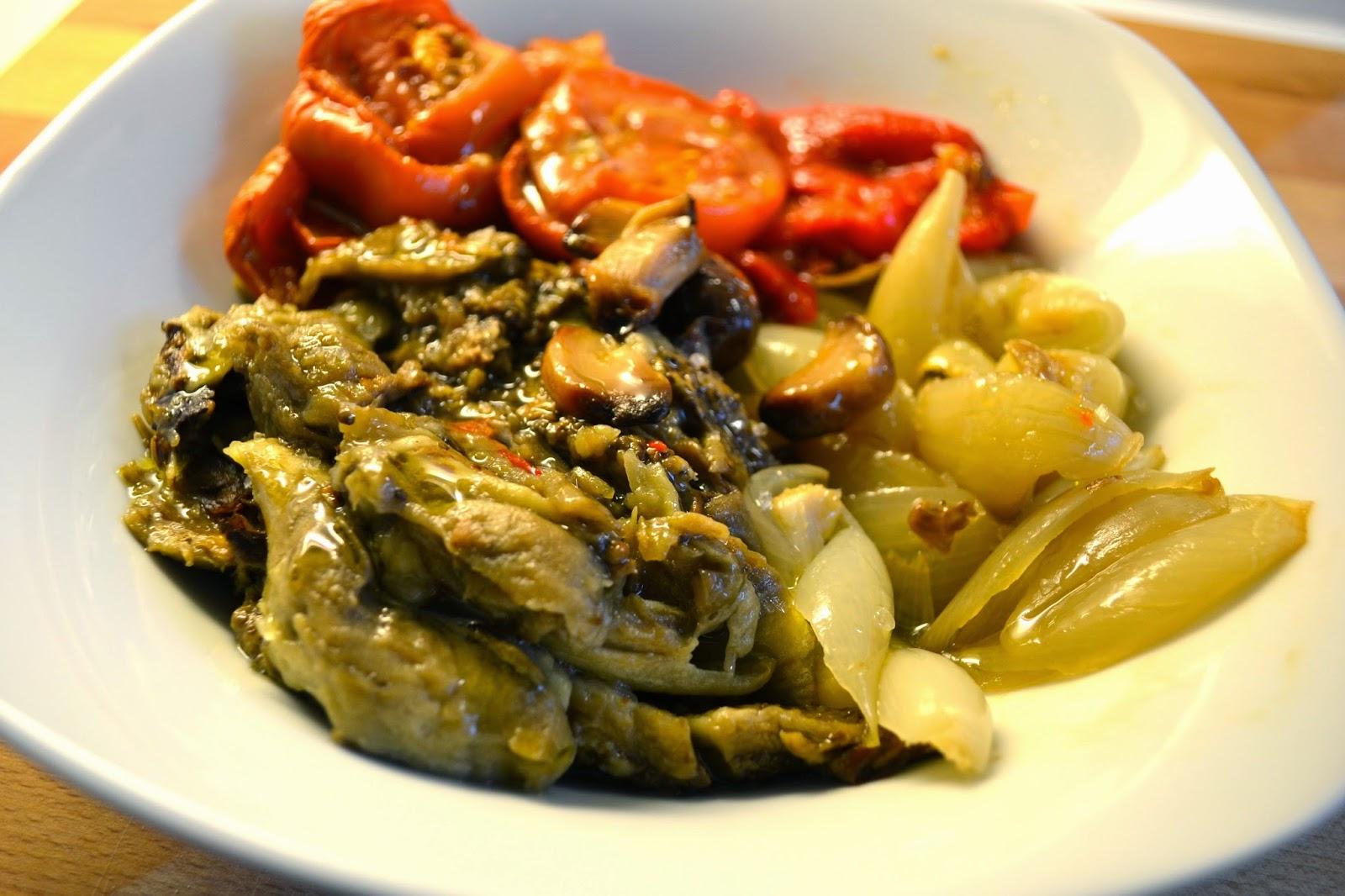 Receta de escalivada de verduras, cocina vegetariana