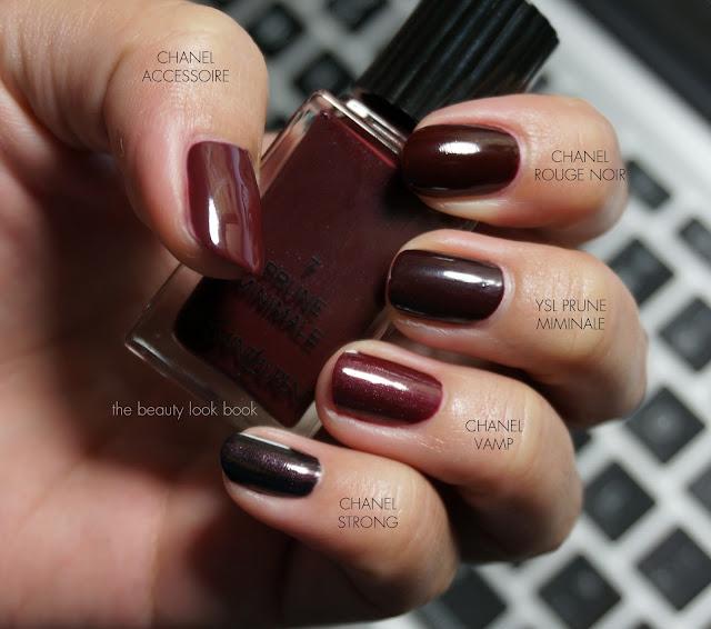 the beauty look book ysl prune minimale no 7 la laque couture. Black Bedroom Furniture Sets. Home Design Ideas