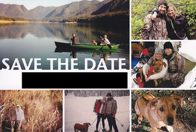 Save the Date Card with Lots of Photos - Posted by Kent Buttars, Seattle Wedding Officiant