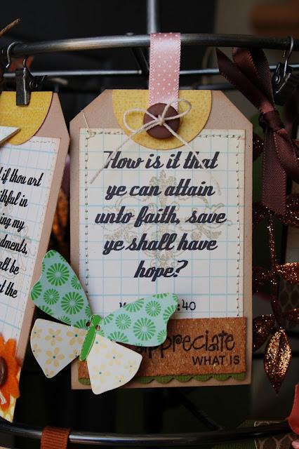 Faith Hanging #scrapbookingalbum by Jen Gallacher from www.jengallacher.com