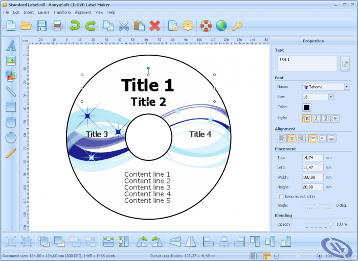 Download RonyaSoft CD DVD Label Maker 3.2.21 …