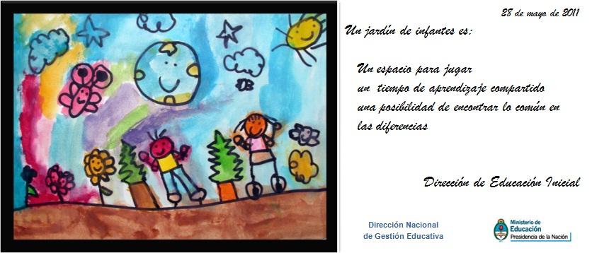Direcci n provincial de educaci n inicial en el d a de for Actividades para jardin de infantes