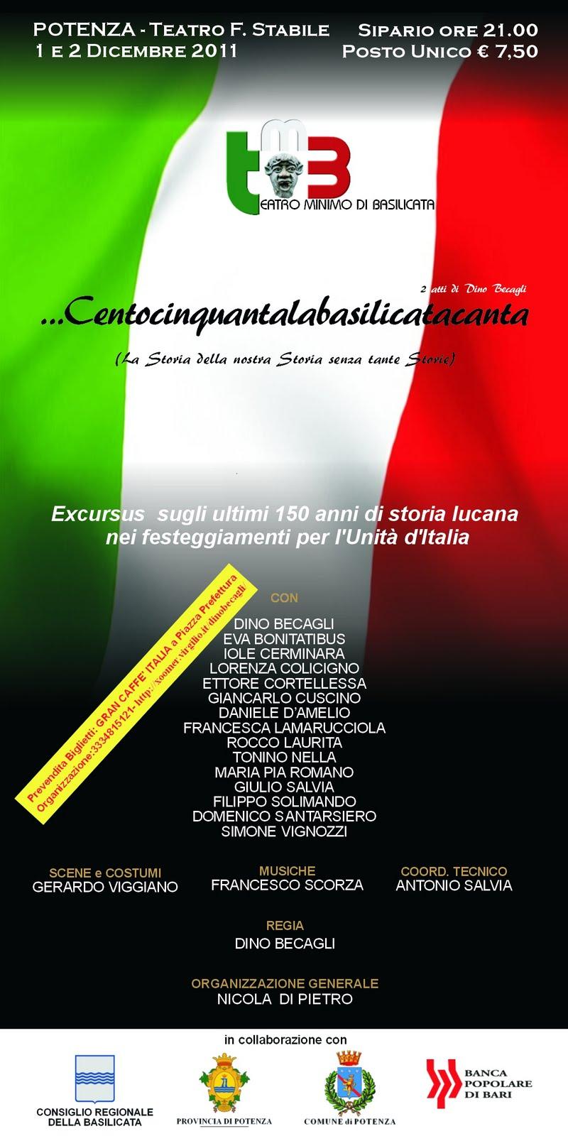 Teatro minimo basilicata novembre 2011 - Testo di casta diva ...