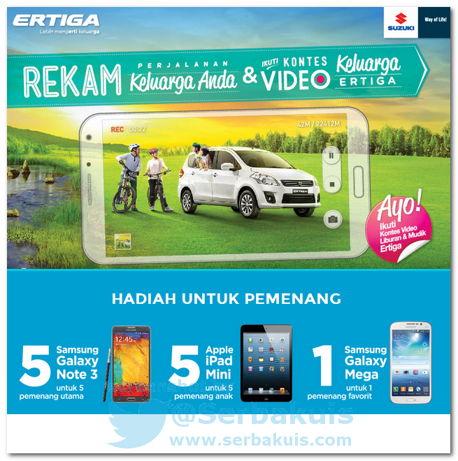 Kontes Video Berhadiah 5 SAMSUNG Galaxy Note, 5 iPad Mini, dan SAMSUNG Galaxy Mega