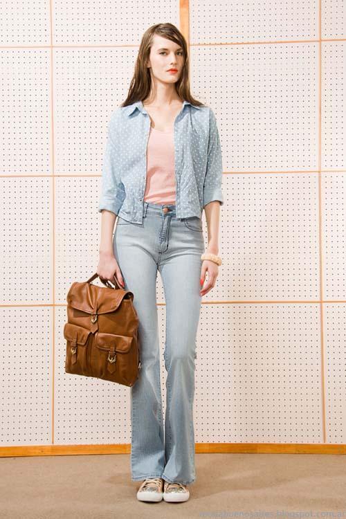 Pantalones de jeans tipo oxford Las Pepas 2014. Moda Argentina.