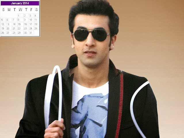 Ranbir Kapoor Calendar 2014