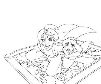 #4 Aladdin Coloring Page