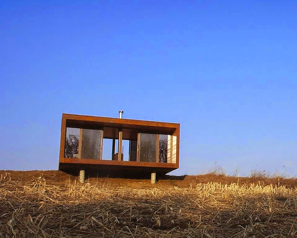 Cabin is like container minimalist house design with for Minimalist cabin design
