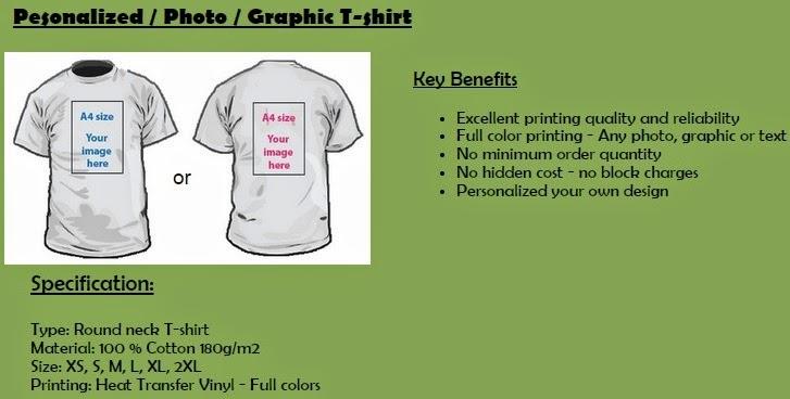 Tshirt printing mug printing in kl button badge heat for Customized t shirts no minimum order