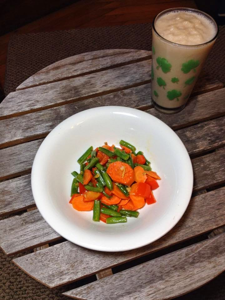 3 day refresh, veggie stir fry, cleanse, vanilla fresh protein shake