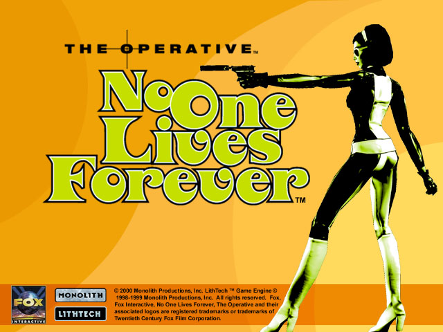 No One Lives Forever title screen