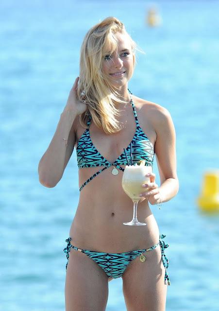 Kimberley Garner Bikini Candids in Cannes
