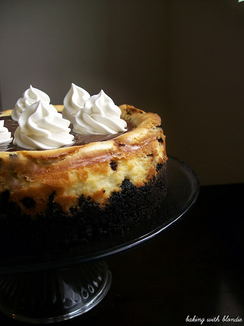 Chocolate Chip Cookie Dough Cheesecake With Oreo Crumble Crust And Chocolate Ganache