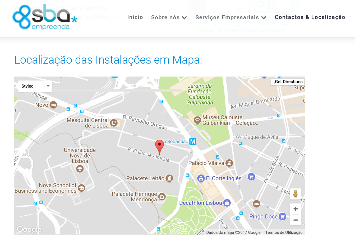 MAPA DO LOCAL DE CONSULTA EM LISBOA 2