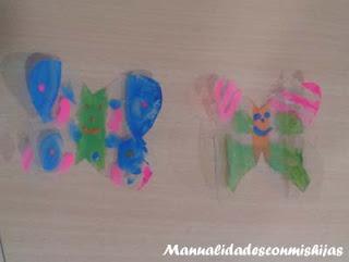 Manualidades infantiles: Pintadas mariposas con esmaltes de uñas