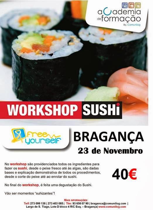 Workshop de Sushi em Bragança