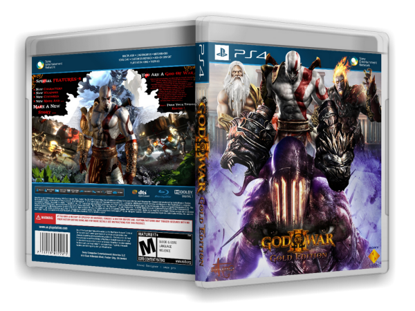Capa God Of War 3 Gold Edition PS4