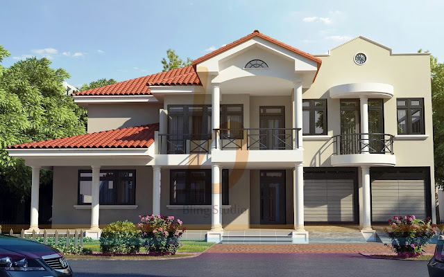 Front Elevation Of Houses In Dha Lahore : D front elevation dha lahore kanal modern