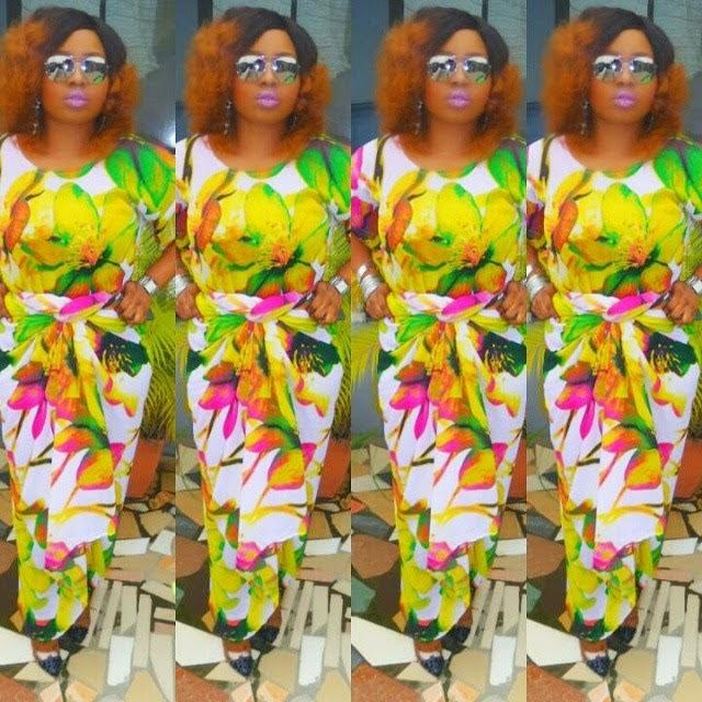 Halima Abubakar rocks floral outfit