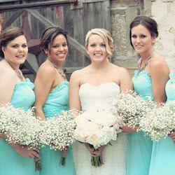 Jason Mann Photography. Teal and gray Door County wedding.