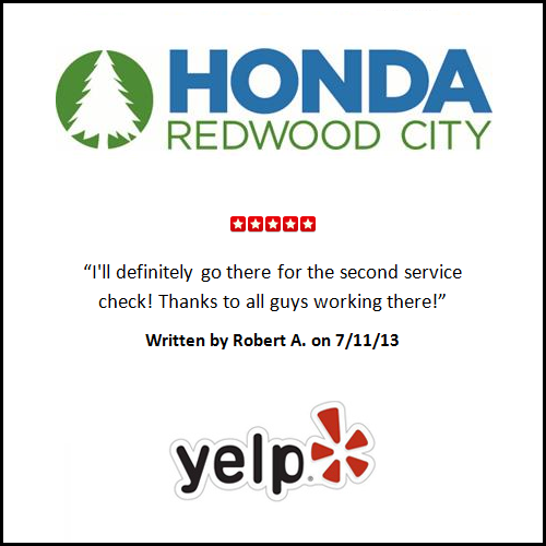 Redwood City Honda U003eu003e 5 Star Review On Yelp! | Honda Redwood City