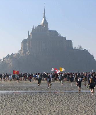 Peregrinação de estudantes ao Monte Saint-Michel