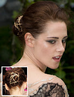 Kristen Stewart bun Hairstyle May 2012