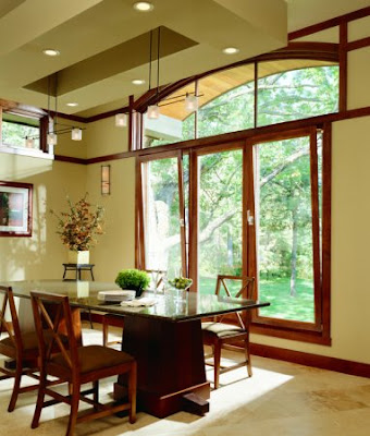 Non-standard windows are a decoration of your interior.