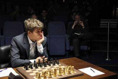Le champion norvégien Magnus Carlsen © Anastasiya Karlovich