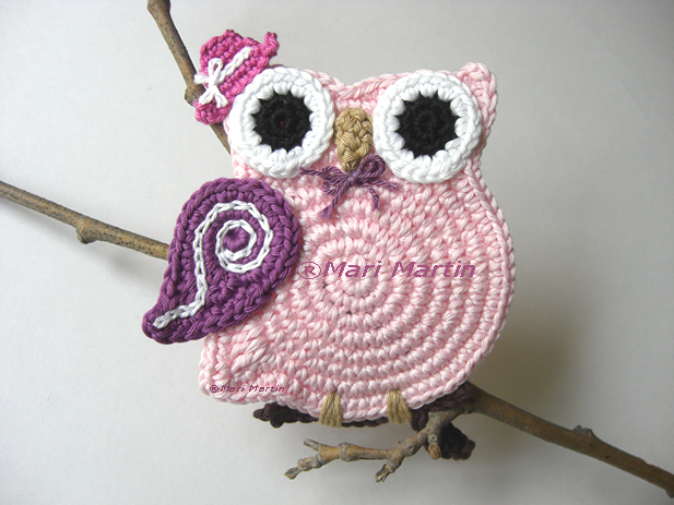 Crochet Owl : Beautiful Crochet Valentine Owls ~ Crochet Colorful