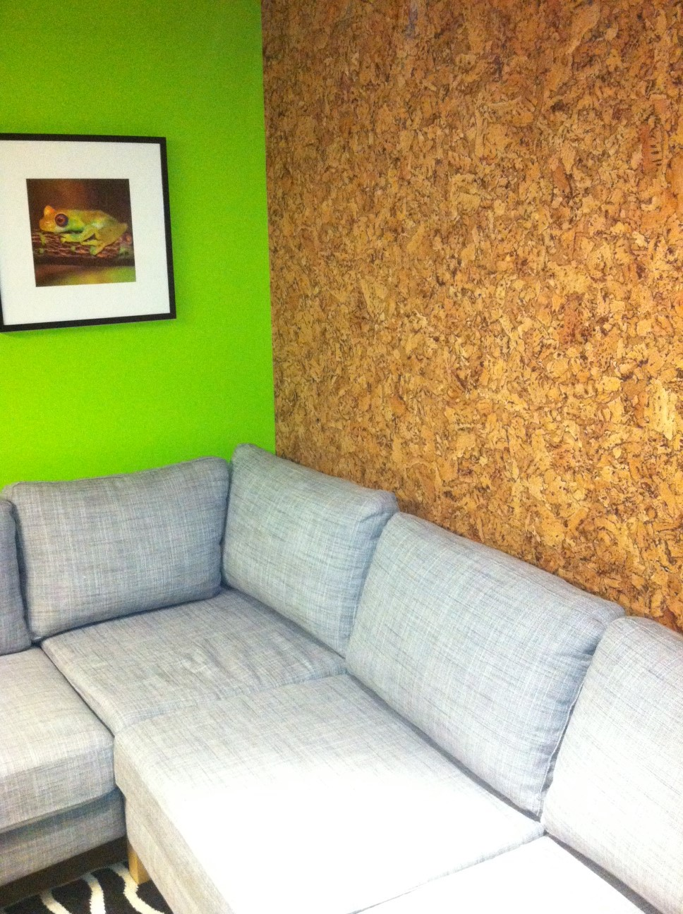 Jelinek cork group get corking cork walls a natural for Cork flooring on walls