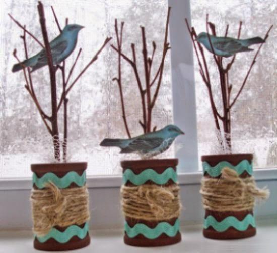 haz adornos decorativos reciclando carretes de hilo