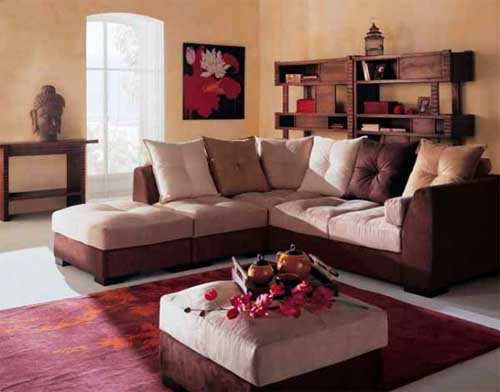 living room with indian interior design
