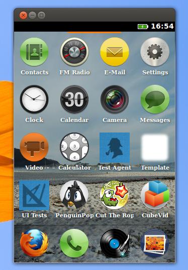 Menu utama Firefox OS