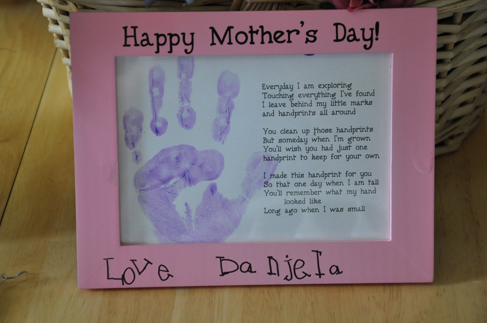 Mother s day handprint poems from children authoritative