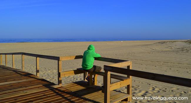 Playa de San Jacinto en la zona centro de Portugal