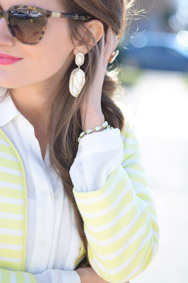 Kendra Scott Baguette earrings… love