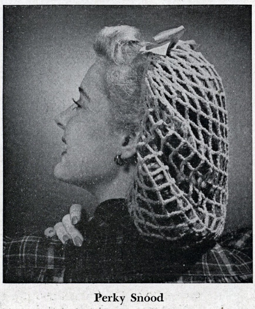 The Vintage Pattern Files: 1940s Crochet - Perky Snood
