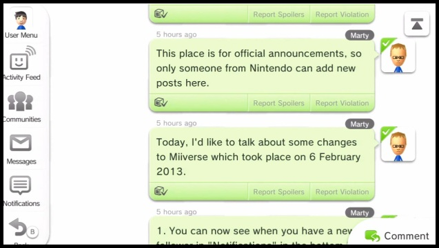 Nintendo announces updates to Miiverse