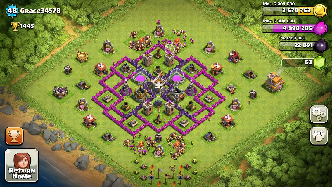 Town hall 7 farming bases clash of clans