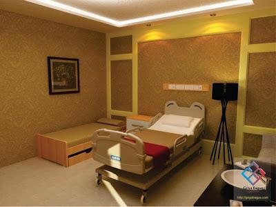 Desain Interior Ruang Rawat Inap Pasien VVIP Rumah Sakit Panti Rapih Yogyakarta Gambar 8