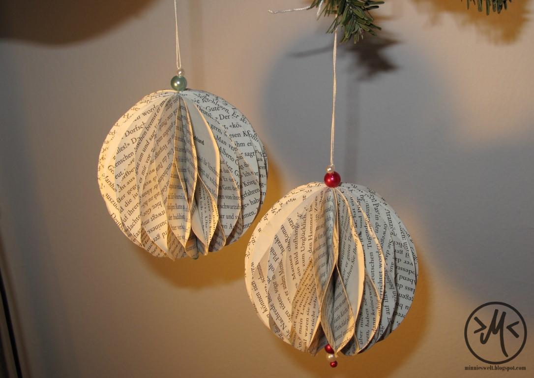 Minnies welt kreatives diy chaos einfach e schnelle weihnachtsdekoration - Papierkugeln basteln ...