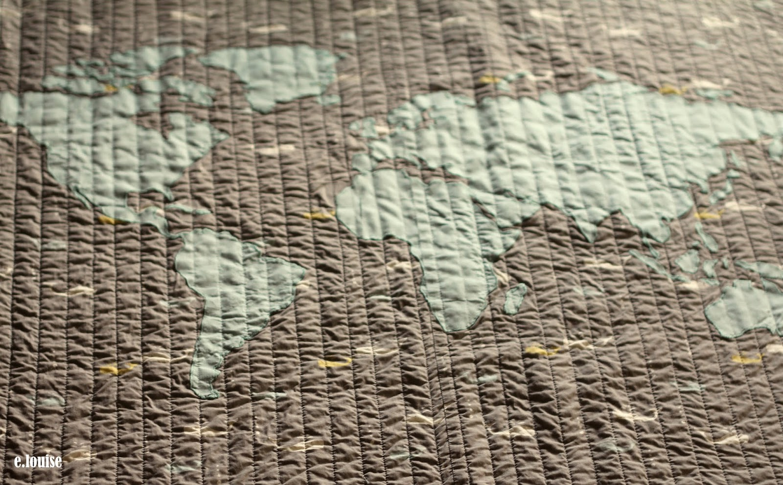 e.louise: World Map Quilt